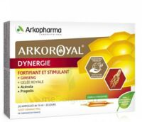 Arkoroyal Dynergie Ginseng Gelée royale Propolis Solution buvable 20 Ampoules/10ml à QUEVERT